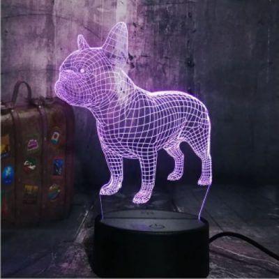 Franse Bulldog Hologram 7 Kleuren Instelbaar Dmv