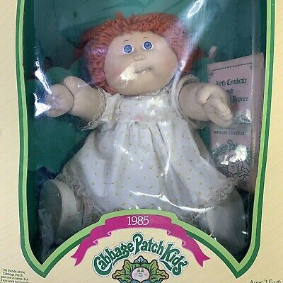 1985 Red Head Cabbage Patch Kid Doll Maggie Crystal With Unopened Birth Certificate Cabbage Patch Kids Dolls Cabbage Patch Kids Patch Kids