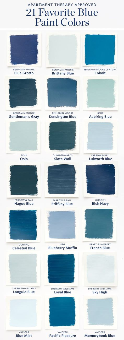 Color Cheat Sheet: The 21 Most Perfect Blue Paint Colors For Your Home