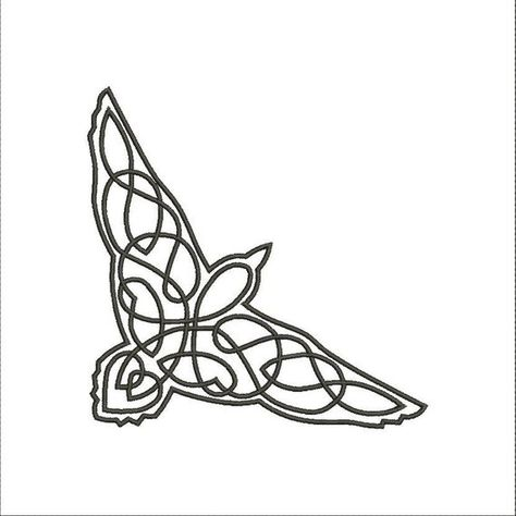 Read the full title Celtic Raven. Design for embroidery machine. 2'', 3'', 4'', 5'', 6'' hoop. Embroidery design. All formats. Celtic motive. Celtic style