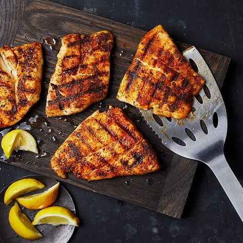 Grilled Fish Recipes, Grilled Veggies, Seafood Recipes, Cooking Recipes, Grilled Seafood, Grilled Pizza, Grilled Zucchini, Fresh Seafood, Cooking Time