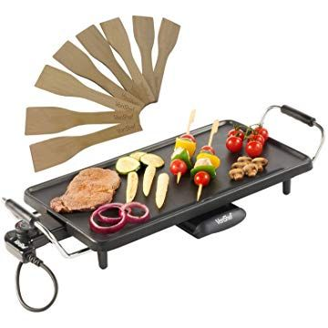 Large Teppanyaki Grill Table Electric Hot Plate Bbq Griddle Camping 2000w Table Grill Plaque Chauffante Barbecue