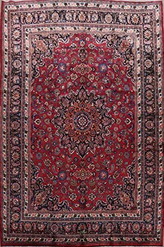 100 Vegetable Dye Oriental Floral Mashad Persian Area Rug Wool Hand Knotted Traditional Carpet 10x13 10 0 In 2020 Persian Area Rugs Floral Area Rugs Wool Area Rugs