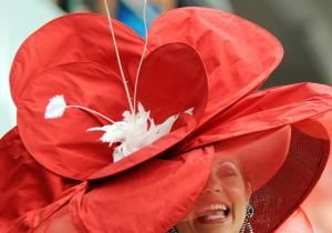 lYou may think all the Kentucky Derby action is on the racetrack, but the real horse race is in the stands, where ladies vie for the wildest hat.