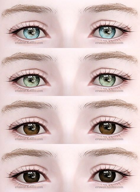 All ages, both genders Four channels File compressed I recommend using these with Awt/sclub's eyeball sliders to control iris and pupil size.