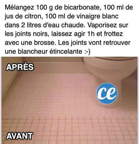 Joints De Carrelage Noircis La Recette Magique Pour Les Blanchir