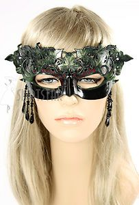 Made in USA Leather Mask Poison Ivy Masquerade Costume Ren Faire Goddess Nymph | eBay