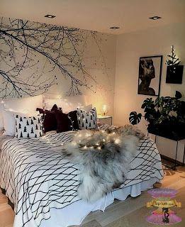 غرف نوم بنات مودرن للصبايا من احدث ديكورات غرف الفتيات المراهقات 2021 Master Bedroom Wall Decor Bedroom Design Room Decor