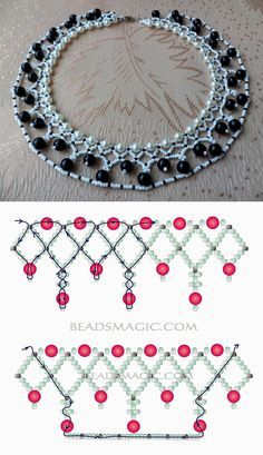 Jewelry Making Beads Free pattern for beaded necklace Norma seed beads pearl beads pearl beads 8 mm - Free pattern for beaded necklace Norma U need: seed beads pearl beads