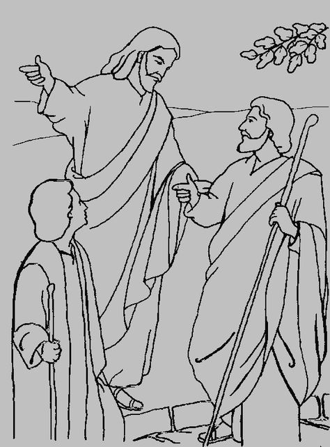 Jesus On The Road To Emmaus Coloring Page Supper In Emmaus