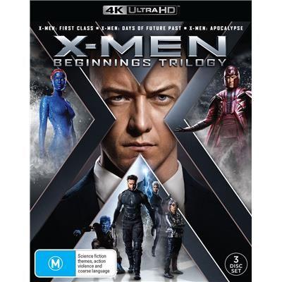 X Men Beginnings Trilogy 3 4k Ultra Hd Jb Hi Fi X Men X Men Apocalypse Trilogy