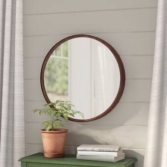 Loftis Modern Contemporary Accent Mirror Mirror Wall Rustic Metal Farmhouse Inspired Decor