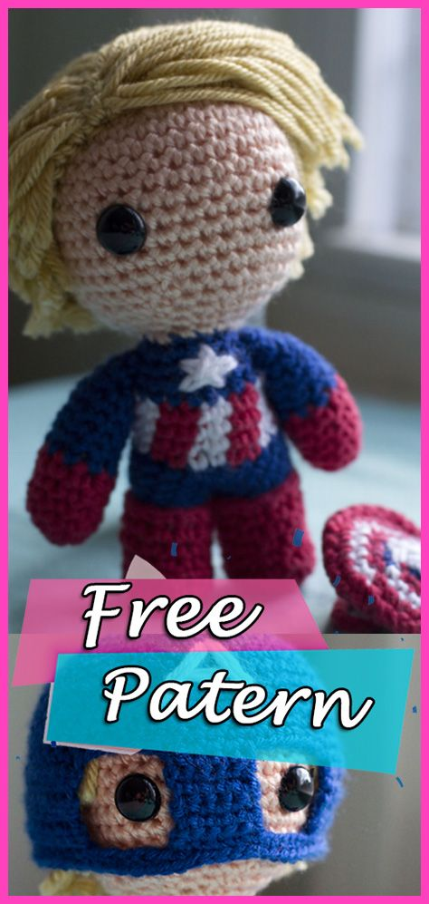 Marvel's Deadpool Doll Amigurumi Crochet Free Pattern | Wzory ... | 997x474