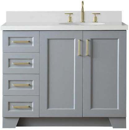 Taylor Collection Q43srb Wqo Gry 43 Right Offset Single Sink