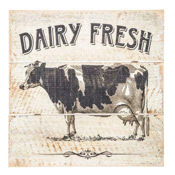 Dairy Fresh Cow Wood Wall Decor Cow Decor Cow Wall Decor Hobby Lobby Decor
