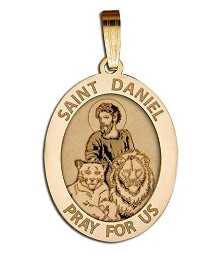 PicturesOnGold.com Saint Anthony Religious Medal Color Solid 14K Yellow Gold 2//3 X 3//4 Inch Size of Nickel