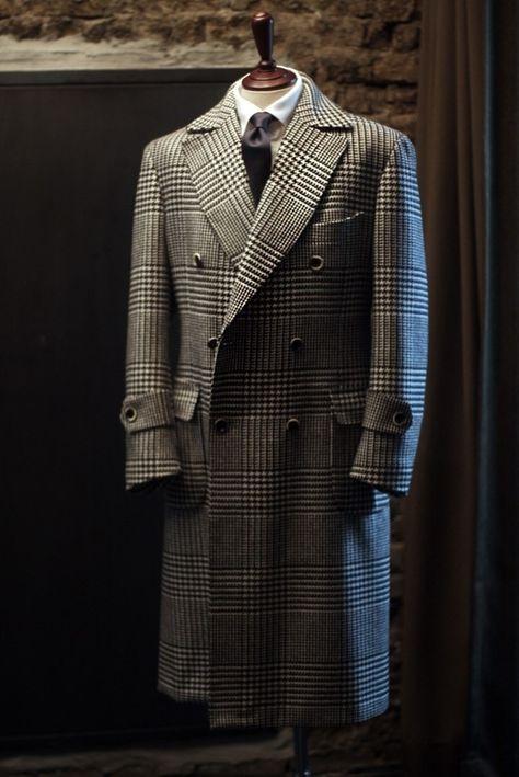 T A I L O R A B L E — Glen plaid warm wool polocoat Handmade by...