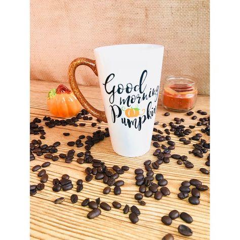 Good Morning Pumpkin Mug Pumpkin Mug Glitter Mug Halloween Mug