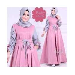 Baju Gamis Pink Cocok Dengan Jilbab Warna Apa