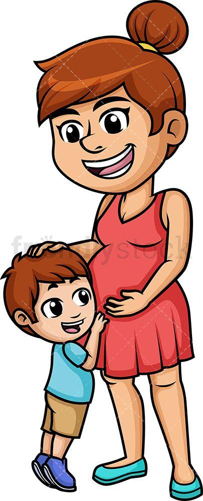 Pregnant Mom Cartoon Vector Clipart Friendlystock Pregnant Mom Pregnant Cartoon Baby Sleep Problems