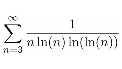 Infinite Series Sum 1 Nln N Ln Ln N