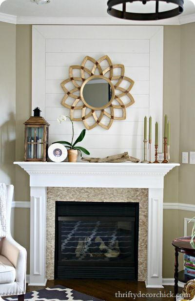 Love The Planked Wall Above Fireplace