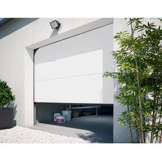 Porte De Garage Sectionnelle Motorisee Primo H 200 X L 240 Cm Avec Images Porte De Garage Sectionnelle Porte Garage Garage