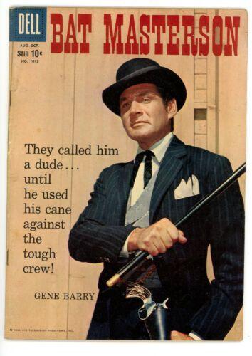 Color Comics 1013 Bat Masterson Dell 1959 Vg Nr Dell Comic Classic Television Tv Westerns