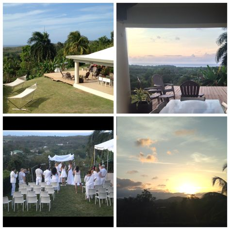 Hacienda Oceanview perfect for small ceremonies.  Www.luxuryvillapr.com  #puertoricowedding #tropicalwedding #destinationwedding #gaywedding #puertoricovacationrental
