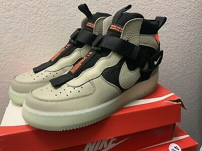 Nike Air Force 1 Utility Mid Men/'s New Spruce Fog Black Casual Shoes AQ9758-300