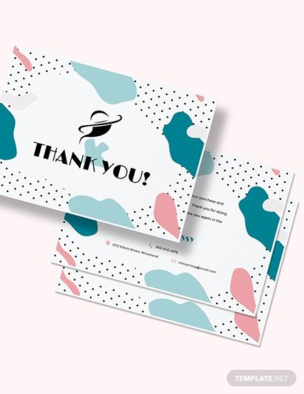 Fashion Business Thank You Card Template Thank You Card Design Business Thank You Cards Business Card Template Design