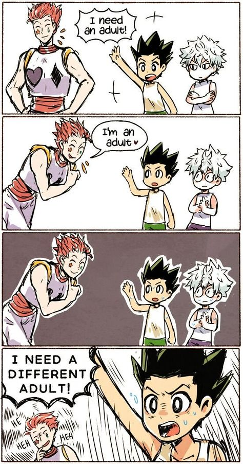 Just a bunch on HxH comics including KilluGon, leopika, Hisoka x illu… #random #Random #amreading #books #wattpad Hisoka, Killua, Anime Meme, Me Anime, Anime Guys, Hunter Anime, Hunter X Hunter, City Hunter, Hxh Characters