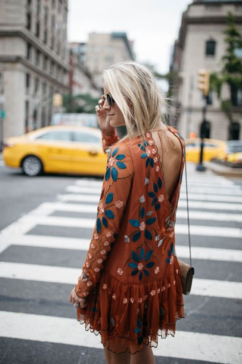 I am so excited to share this transitional fall embroidered dress with you all as it is one of my current favorites.