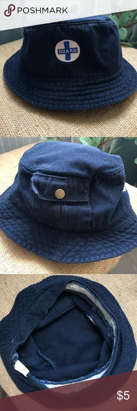 38ab799d973d3 VINTAGE Lifeguard Bucket hat Vintage Guard bucket hat with cargo pocket on  the side Accessories Hats