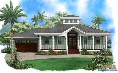 Beach House Plan 1 Story Old Florida Style Coastal Home Floor Plan Coastal House Plans Florida House Plans Cottage House Plans