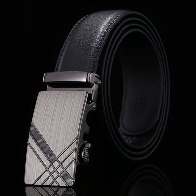 Classical automatic belt buckle leather belts mens waist