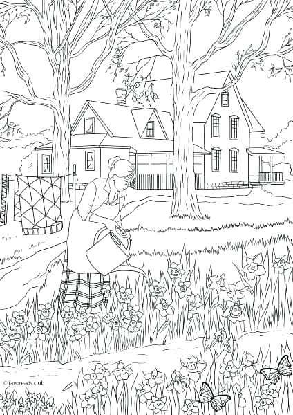 Nature Coloring Pages For Adults Free Download Spring Coloring