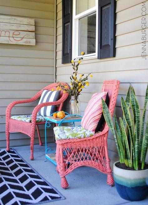 Comment nettoyer et peindre une chaise en osier? Wicker chairs - comment peindre une chaise