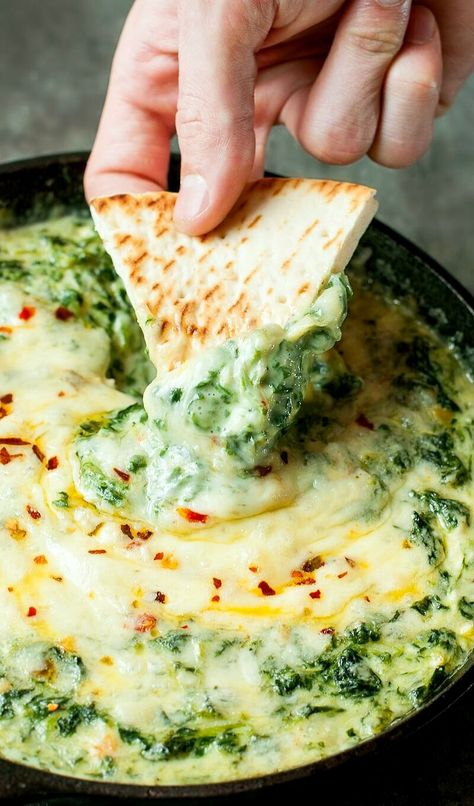 Serve this Cheesy Ba Serve this Cheesy Baked Shrimp and Spinach. Serve this Cheesy Ba Serve this Cheesy Baked Shrimp and Spinach Dip at your next party and its sure to be the first dish devoured! My friends and family BEG for this easy cheesy appetizer! Hot Spinach Dip, Spinach And Cheese, Chopped Spinach, Creamed Spinach, Shrimp Dip, Baked Shrimp, Dip Recipes, Seafood Recipes, Cooking Recipes