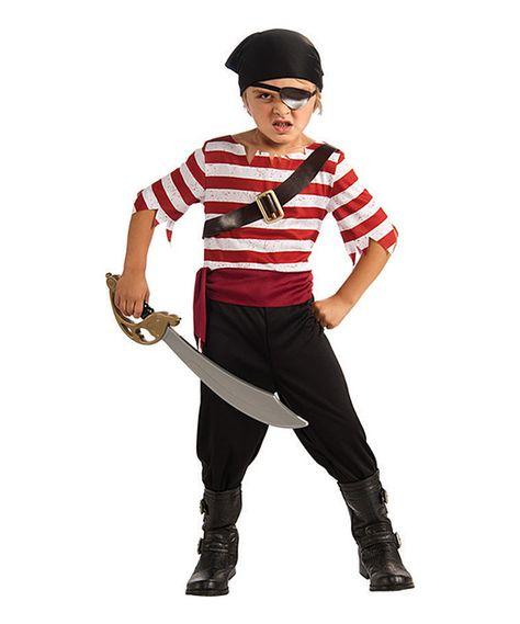 Look at this #zulilyfind! Red & White Stripe Pirate Dress-Up Set - Kids by Rubie's #zulilyfinds