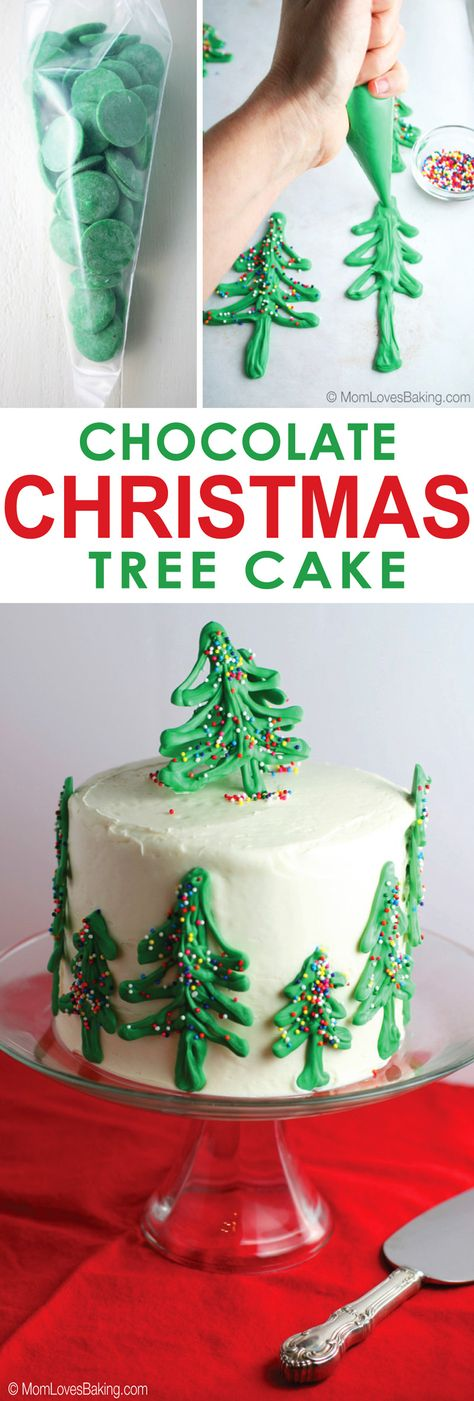 Need a fabulous dessert for the Christmas party? How about this Chocolate Christmas Tree Cake. It's simple to make and your friends will be so impressed! #TheDessertDebate @pillsburybaking  #ad