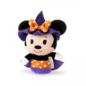Mickey and Minnie Mouse are dressed for Halloween as limited-edition Halloween-themed itty bittys from Hallmark.