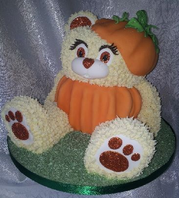 Girl teddy pumpkin halloween cake Sugarcraft Supplies - Cake - halloween cake decorating pictures