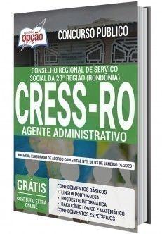 Apostila Concurso Cress Ro 23ª Regiao Agente Administrativo Em