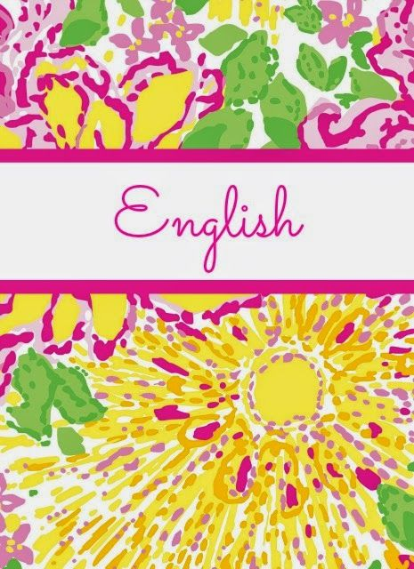 Preppy Takes Lilly Pulitzer to School! Lilly Pulitzer Binder Covers - english binder cover