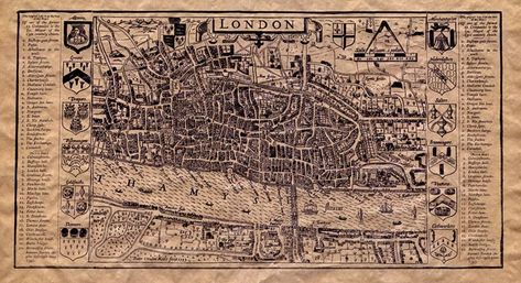 Old Map of Tudor London (If you click on the link you can zoom in on different parts and really see the detail)