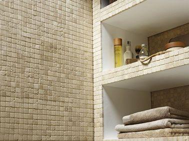 Carrelage Mosaique Pierre Naturelle Pour Mur Et Sol Salle De Bain