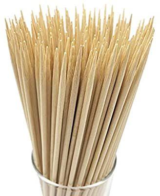 "Natural Bamboo Skewers BBQ Fruit 6/"" 8/"" 10/"""