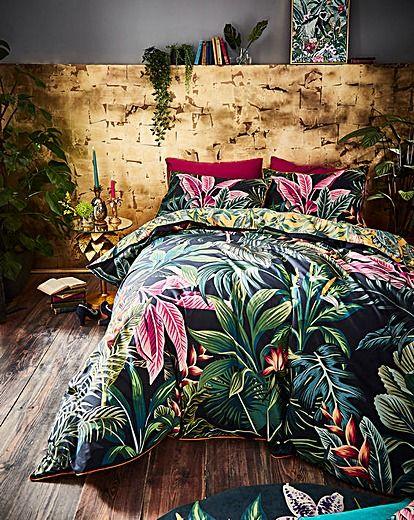 Joe Browns Tropical Printed Duvet Set J D Williams Floral Duvet Sets Duvet Sets Floral Duvet