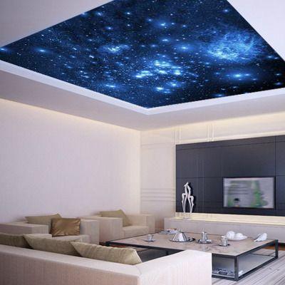Galaxy Wallpaper On Ceiling